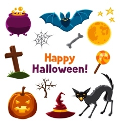 Happy halloween seamless pattern with characters vector image vector image