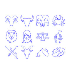 horoscope icon set vector image