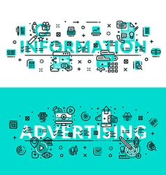Information and advertising heading title web vector