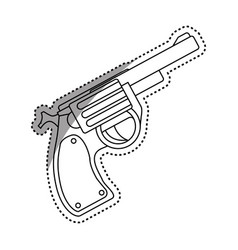 Isolated handgun weapon vector