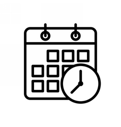 Meeting Deadlines Icon vector image vector image