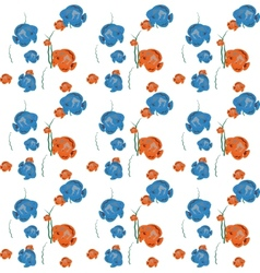 Orange and blue fish seamless pattern eps1 vector