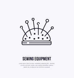 pincushion flat line icon sign for sewing vector image vector image
