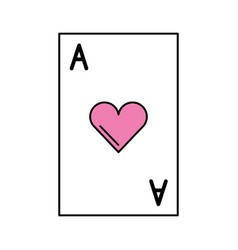 poker card isolated icon vector image vector image