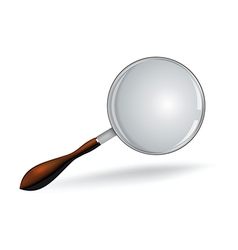 Realistic magnifying glass on white vector image