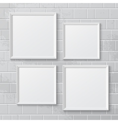 Realistic picture frames vector image vector image