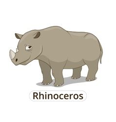 Rhinoceros african savannah cartoon vector