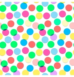 Seamless confetti pattern in candy colors vector image vector image