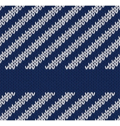 Seamless Marine Knitted Pattern vector image