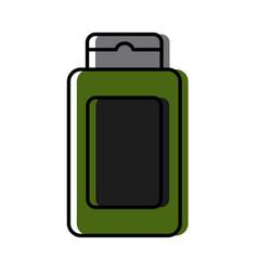 shampoo bottle product cute kawaii cartoon vector image