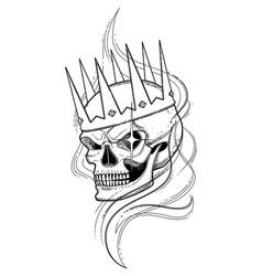 Skull in the crown vector