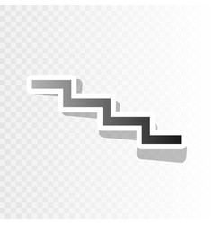 Stair down sign new year blackish icon on vector