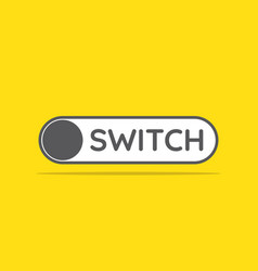 switch toggle icon in flat style vector image vector image