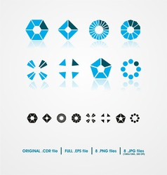 Symmetric shapes vector image vector image