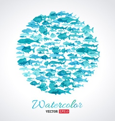 Watercolour fish background vector