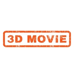 3d movie rubber stamp vector