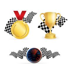 racing color icon set vector image