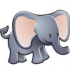 elephant cartoon character vector image
