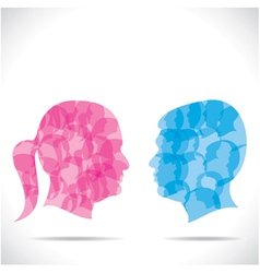 Blue men and pink women vector