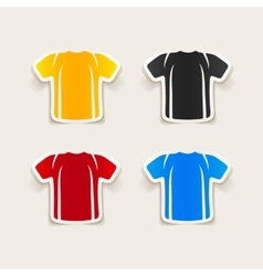 Realistic design element shirt vector