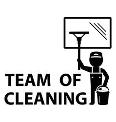 Team of cleaning symbol vector