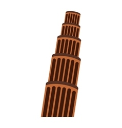 The leaning tower pisa vector