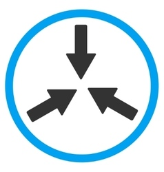 Collide arrows rounded icon vector
