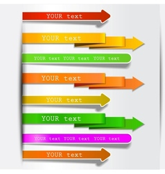 bookmarks and arrows vector image