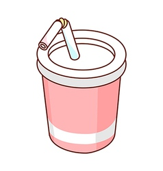 A drink is placed vector