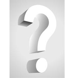 A question mark vector