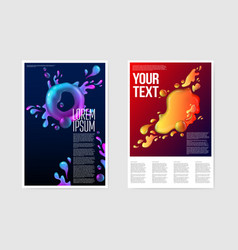 Abstract poster liquid background fluid shapes vector