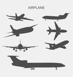 airplane on white vector image