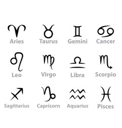 art line zodiac sign vector image