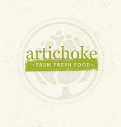 Artichoke farm fresh food eco green design vector