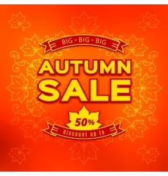 Autumn sale fall discount and shopping vector