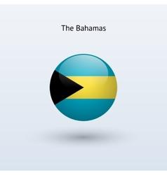 Bahamas round flag vector