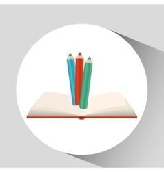 Book open colors concept school graphic vector