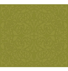 brown background with floral ornaments vector image vector image