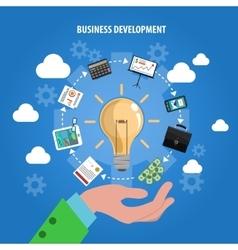 Business development concept vector