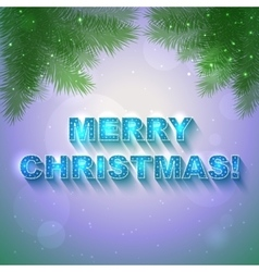 Christmasblue and green card vector image