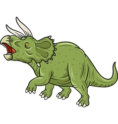 Cute triceratops three horned dinosaur isolated vector
