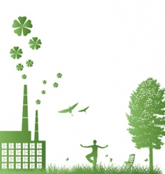 ecology frame vector image vector image