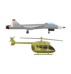 Fighter airplane vector image vector image