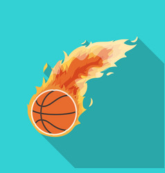 fireballbasketball single icon in flat style vector image vector image