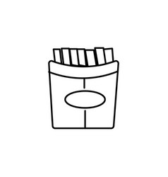 Fries icon vector