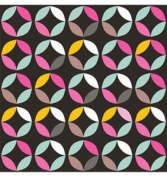 Geometric seamless pattern with colorful circles vector