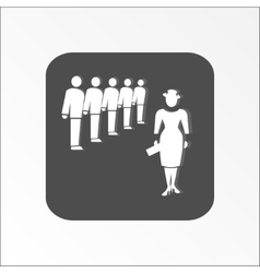Group of people icon office meeting management vector