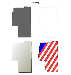 Harney map icon set vector