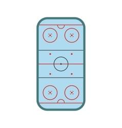 Ice hockey rink icon vector image vector image