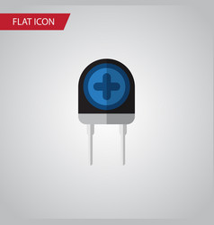 isolated diode flat icon transducer vector image